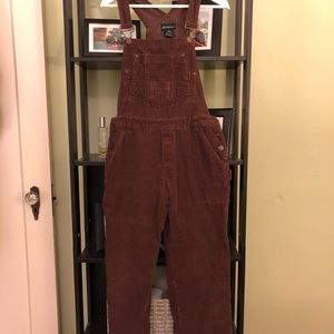 Brown Corduroy Overalls